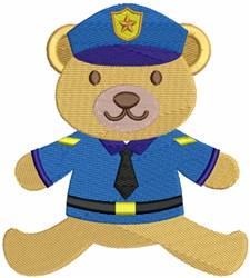 Cop Bear embroidery design