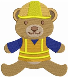Construction Bear embroidery design