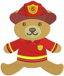 Fireman Bear embroidery design