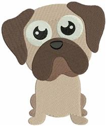 Pug Bobblehead Puppy embroidery design