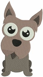 Scottie Bobblehead Puppy embroidery design