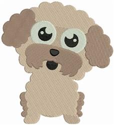 Bichon Bobblehead Puppy embroidery design