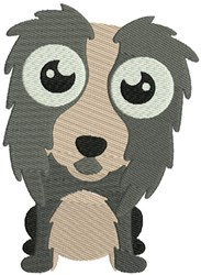 Collie Bobblehead Puppy embroidery design