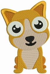 Corgi Bobblehead Puppy embroidery design