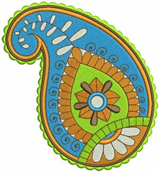 Paisley Leaf Art embroidery design
