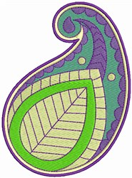 Paisley Leaf Art 3 embroidery design