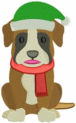 Christmas Boxer embroidery design