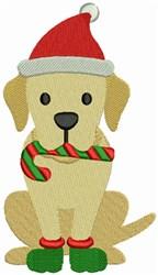 Christmas Labrador embroidery design