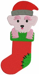 Christmas Maltese embroidery design