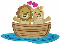 Love Boat - Lion and Lioness embroidery design
