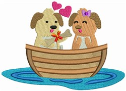 Love Boat - Dogs with Bone embroidery design