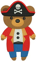 Pirate Bear embroidery design