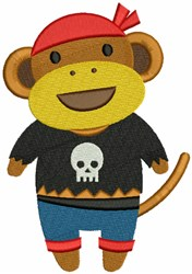Pirate Monkey embroidery design