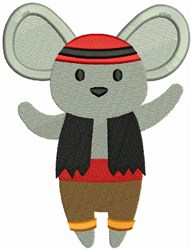 Pirate Mouse embroidery design