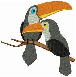 Love Birds - Toucans embroidery design