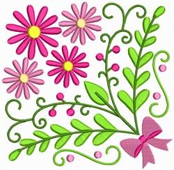 Decorative Floral Square embroidery design