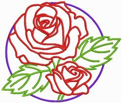 Rose Flower Outline embroidery design