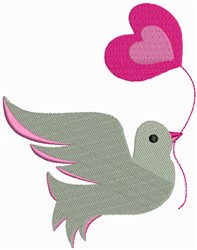 Dove With Heart embroidery design