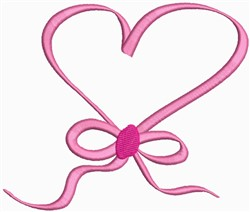 Heart Ribbon embroidery design