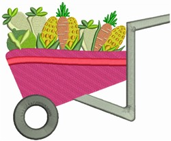 Vegetable Cart embroidery design