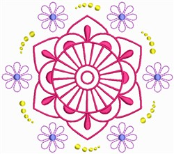 Floral Quilt Design embroidery design