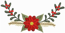 Poinsettia Flower embroidery design