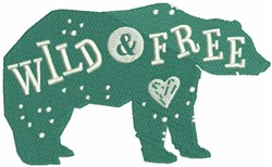 Bear - Wild and Free embroidery design