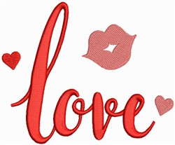 Valentine Collection - Love, Red Lips embroidery design