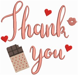 Valentine Collection - Thank You with Chocolates embroidery design