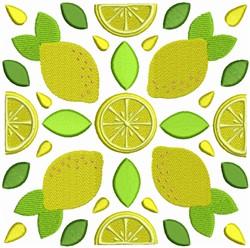 Fruit Quilt Block - Lemon Squares embroidery design