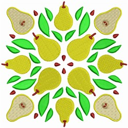 Fruit Quilt Block - Pear Squares embroidery design
