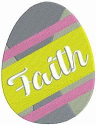 Easter Egg - Faith embroidery design