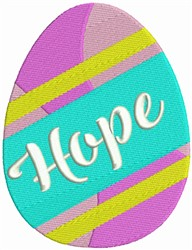 Easter Egg - Hope embroidery design