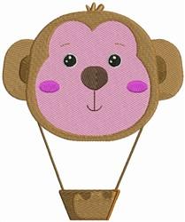 Monkey Hot Air Balloon embroidery design