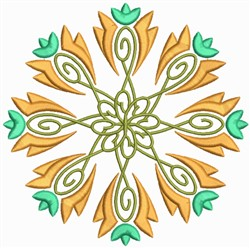 Floral Manadals embroidery design