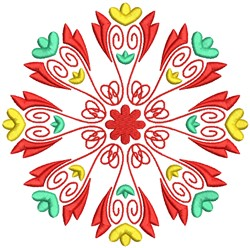 Cute Floral Mandala Pattern embroidery design