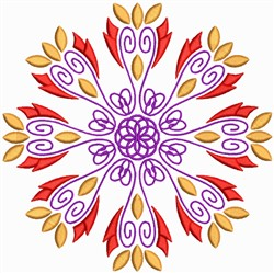 Creative Floral Mandala embroidery design