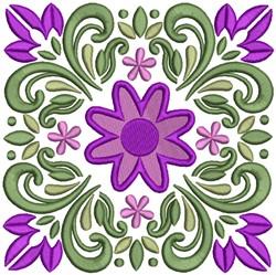 Floral Pattern Quilt Design embroidery design