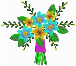 Flowers Bouquet embroidery design