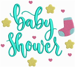 Baby Shower embroidery design