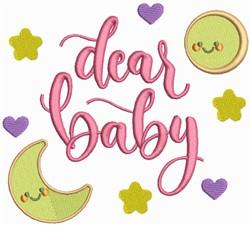 Dear Baby embroidery design
