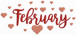 February - Valentine Month embroidery design