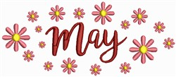 May - Showers embroidery design
