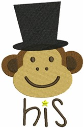 Monkey Face with Hat embroidery design