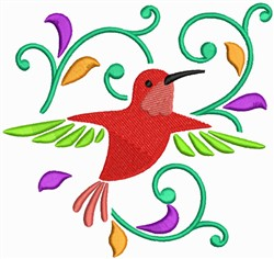 Flying Humming Bird embroidery design