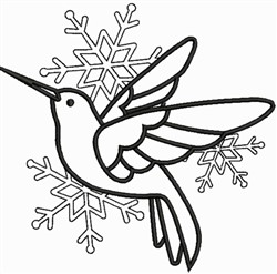 Flying Bird Snowflakes embroidery design