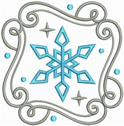 Snow Swirls Corner and Border 2 embroidery design