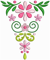 Floral Bookmark embroidery design