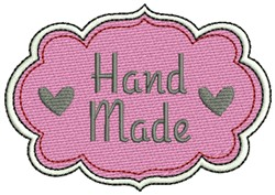 Hand Made with Love embroidery design