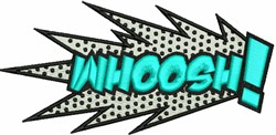 Whoosh! embroidery design
